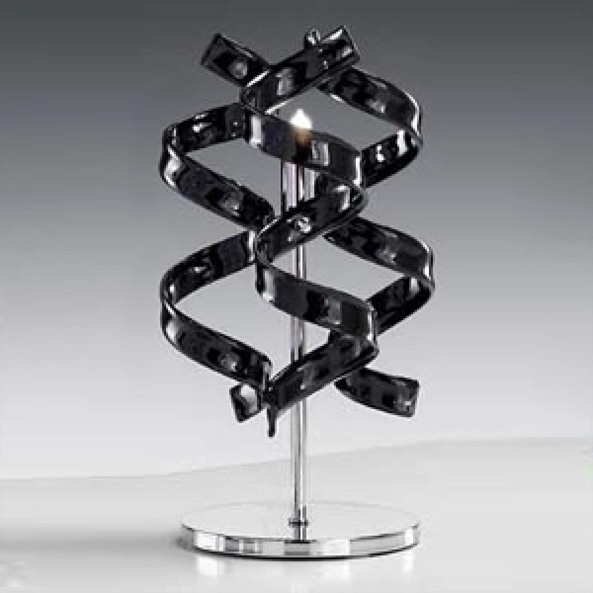 Tischleuchte Black In Modernem Look Schwarzes Glas Lampentisch Tischleuchte