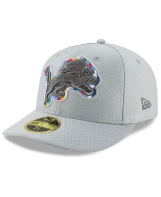 online retailer 3fc08 d0787 New Era Detroit Lions Crucial Catch Low Profile 59FIFTY Fitted Cap - Gray 7  1 8
