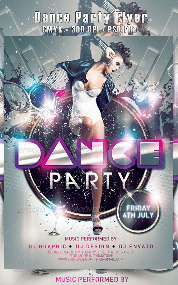 Dance Party Flyer Party flyer, Template and Ecommerce logo - party flyer