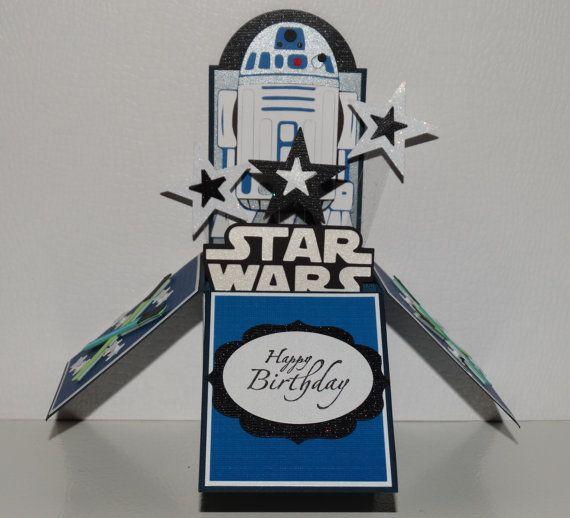 Star Wars R2d2 Happy Birthday Handmade 3d Pop Up Greeting Card Star Wars Happy Birthday Star Wars Cards Birthday Cards For Men
