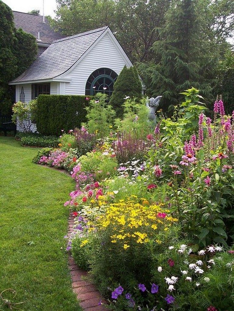 45 Best Garden Bed Borders Ideas For Vegetable And Flower Gardens With Images Small Cottage Garden Ideas Garden Landscape Design Cottage Garden Design