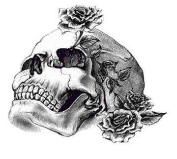 Drawings Of Roses And Hearts Skulls