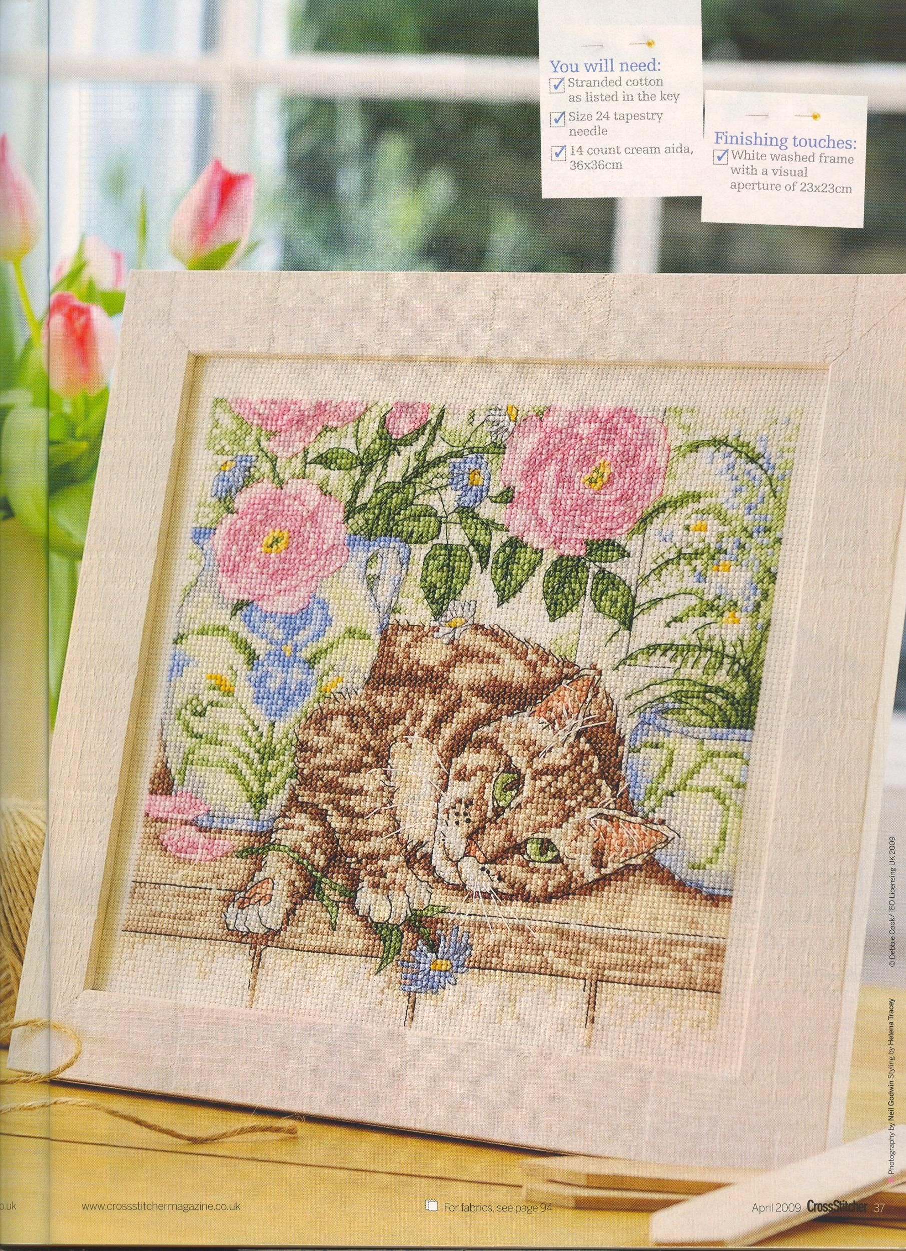 """Cross Stitch Pattern for /""""The Cat/'s Whiskers/"""""""