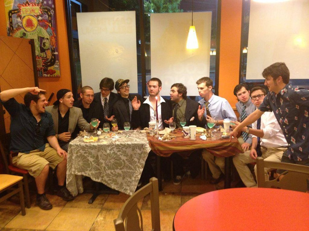 "For my bachelor party, we had ""the last supper"" at Taco Bell."