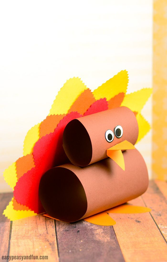 Simple Paper Chick Craft: Simple Paper Turkey Craft