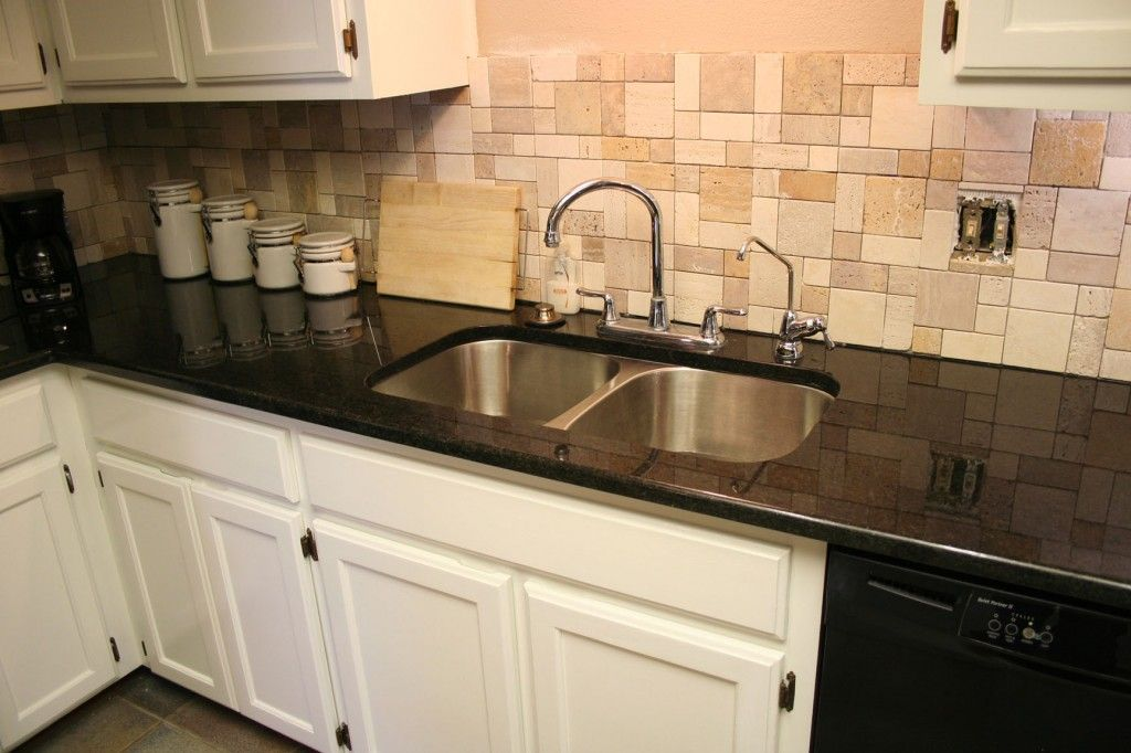 Black Pearl Granite | White Painted Cabinets | Grey ... on Backsplash For Black Granite Countertops And White Cabinets  id=18390