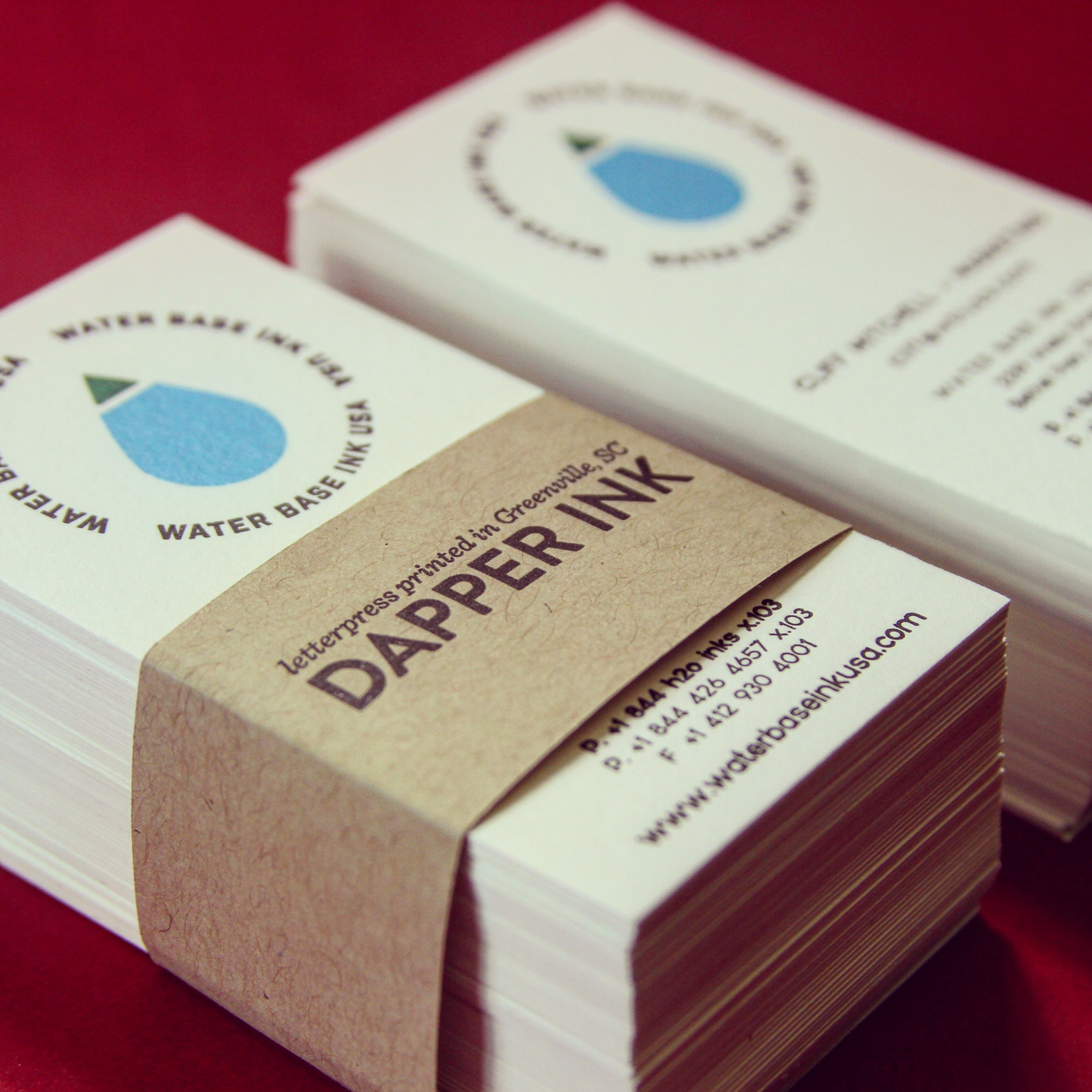 business cards pressed and printed by dapper ink using permaset