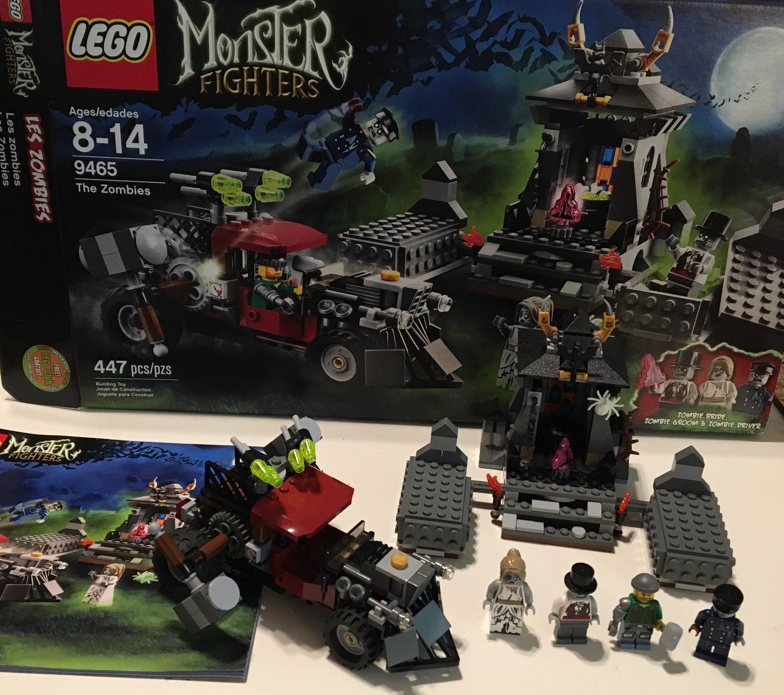 Lego Monster Fighters The Zombies 9465 100 Complete Winstructions
