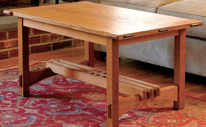 Arts And Crafts Coffee Table Design From Tauntonu0027s Fine Woodworking