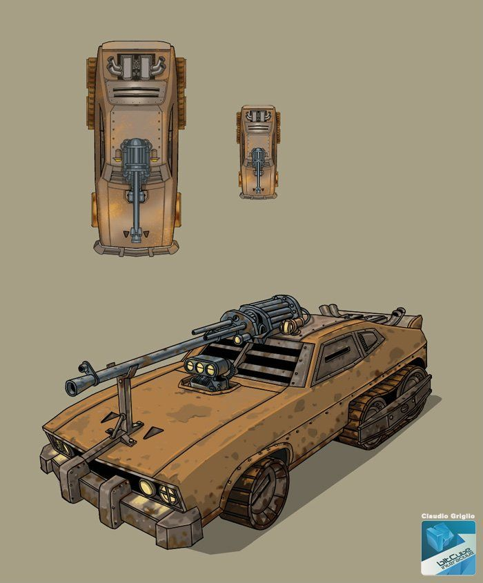 Mindingmymonsters: War CAR By Claudiobitcube The