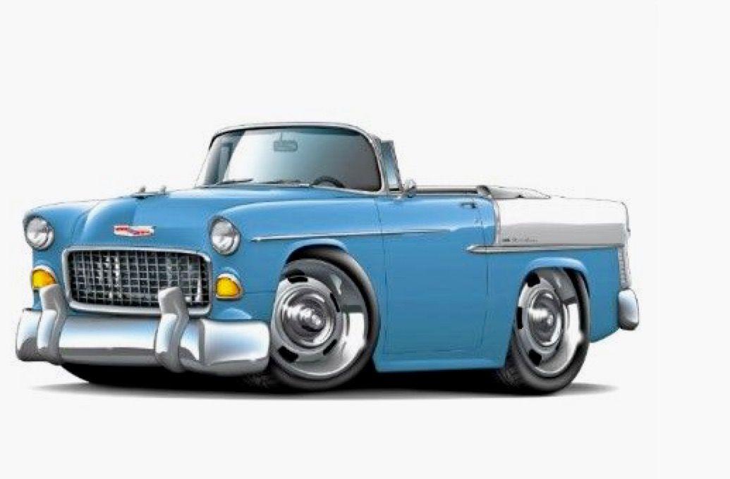 1955 Chevrolet Bel Air Cool Car Drawings 1955 Chevy Car