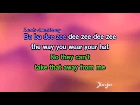 Karaoke They Can T Take That Away From Me Ella Fitzgerald