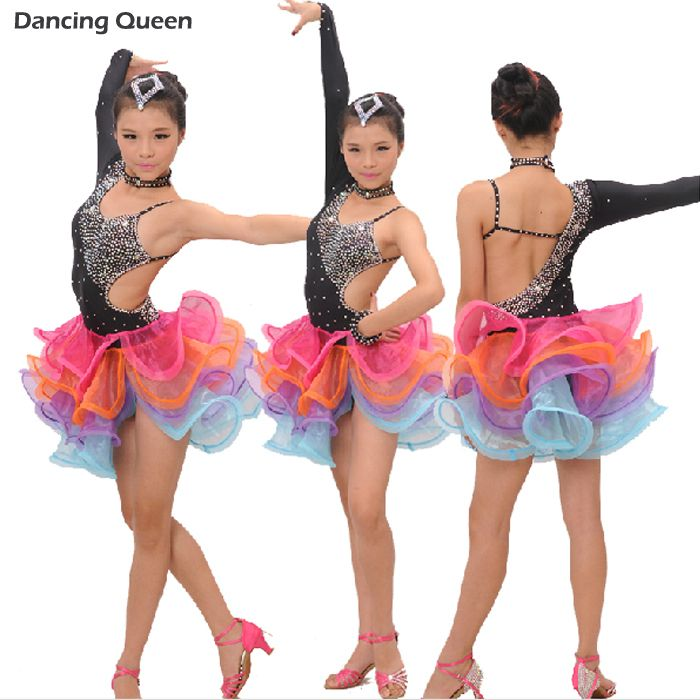 cd0bdee2dc86 Cheap Latin, Buy Directly from China Suppliers: Latin Dance Dress Children  With Hand sewing Stone Girls Dance Dress Kids Ballroom Dance Competition ...