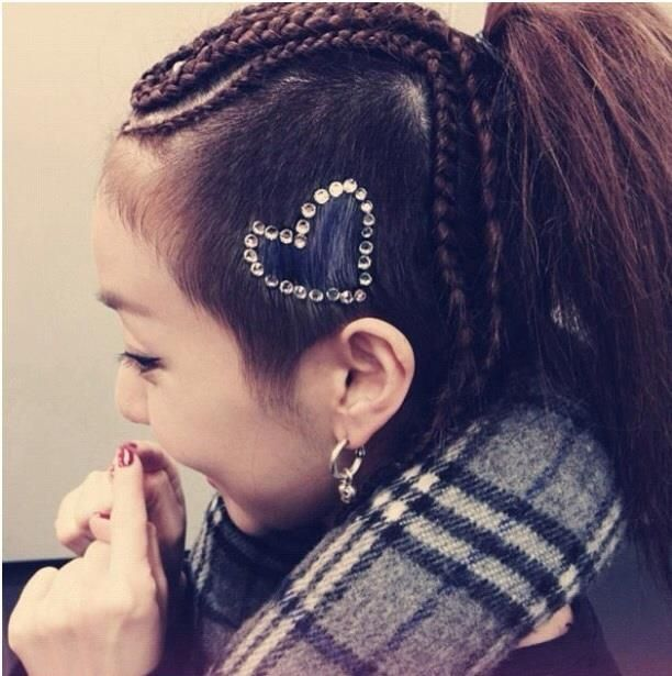 Shave And Braids By 2ne1 Dara