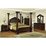 $3,493.38  Yuan Tai Furniture - Juliet 6 Piece Queen Poster Bedroom Set - JU2660Q-6SET-DR-M-N-MC-CH