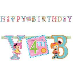 Lalaloopsy Party Supplies, Lalaloopsy Banners, Add An Age Banners  happy 4th birthday