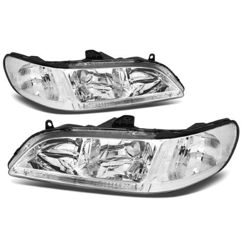 For 1998 To 2002 Honda Accord Oe Style Headlight Chrome Housing Clear Corner Headlamp 99 00 01 Left Right Replacement Headlights Honda Accord Chrome
