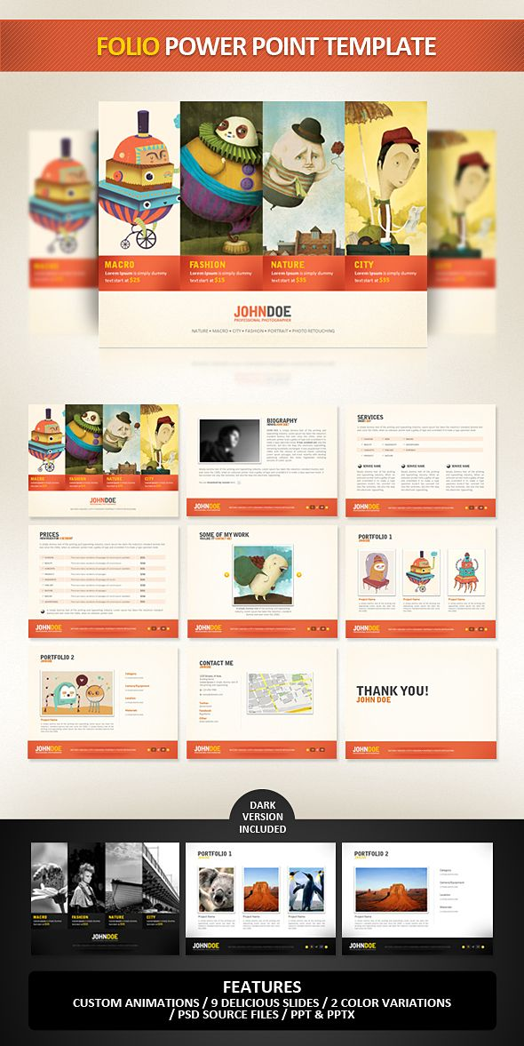 Folio PowerPoint Template by ~EAMejia on deviantART | Infographic ...