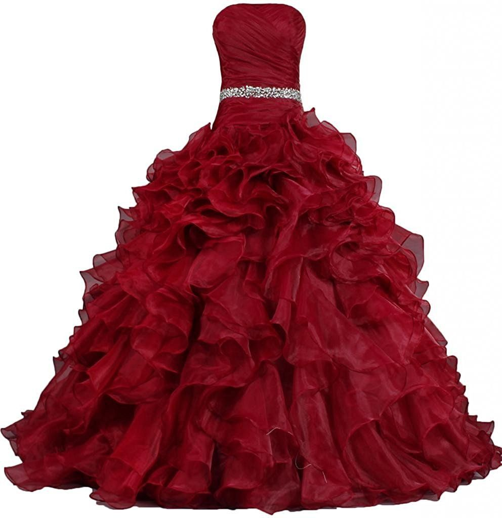 Pretty ball gown quinceanera dress ruffle prom dresses ph color