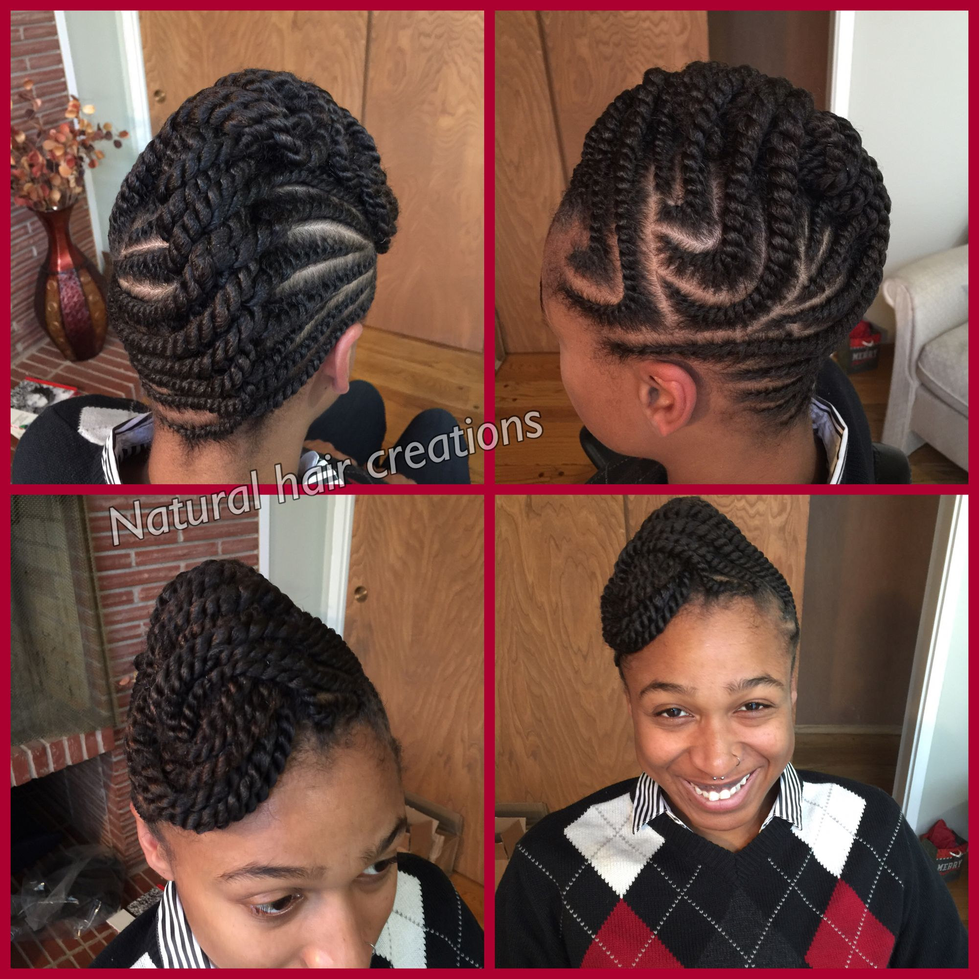 Flat Twists Updo Natural Hair Protective Style Twist Pinterest