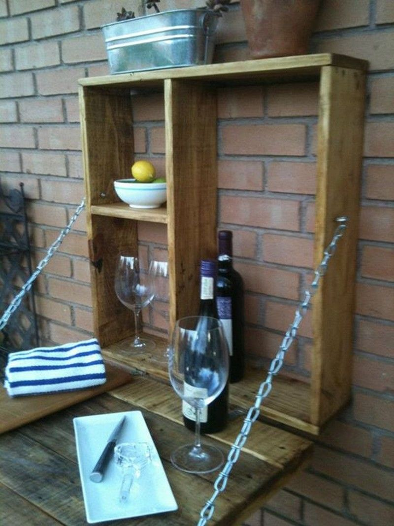 Pallet Fold Down Outdoor Bar Outdoor Bar Diy Storage Projects Pallet Outdoor