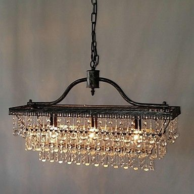 Chandelier Traditional Classic Electroplated Feature For Crystal Metal Bedroom Dining Room Study