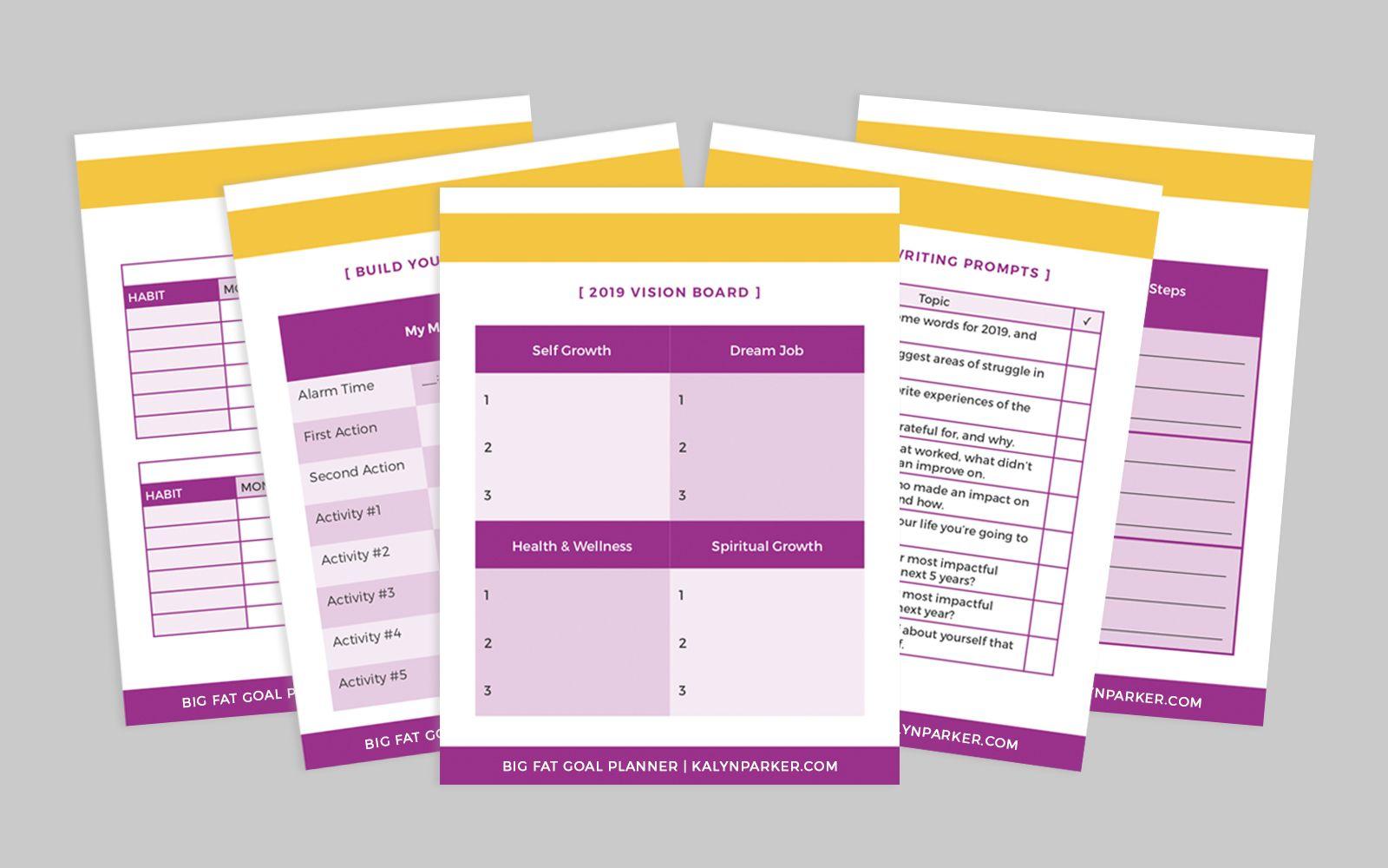 Free Goal Planning Worksheets Planner Pack
