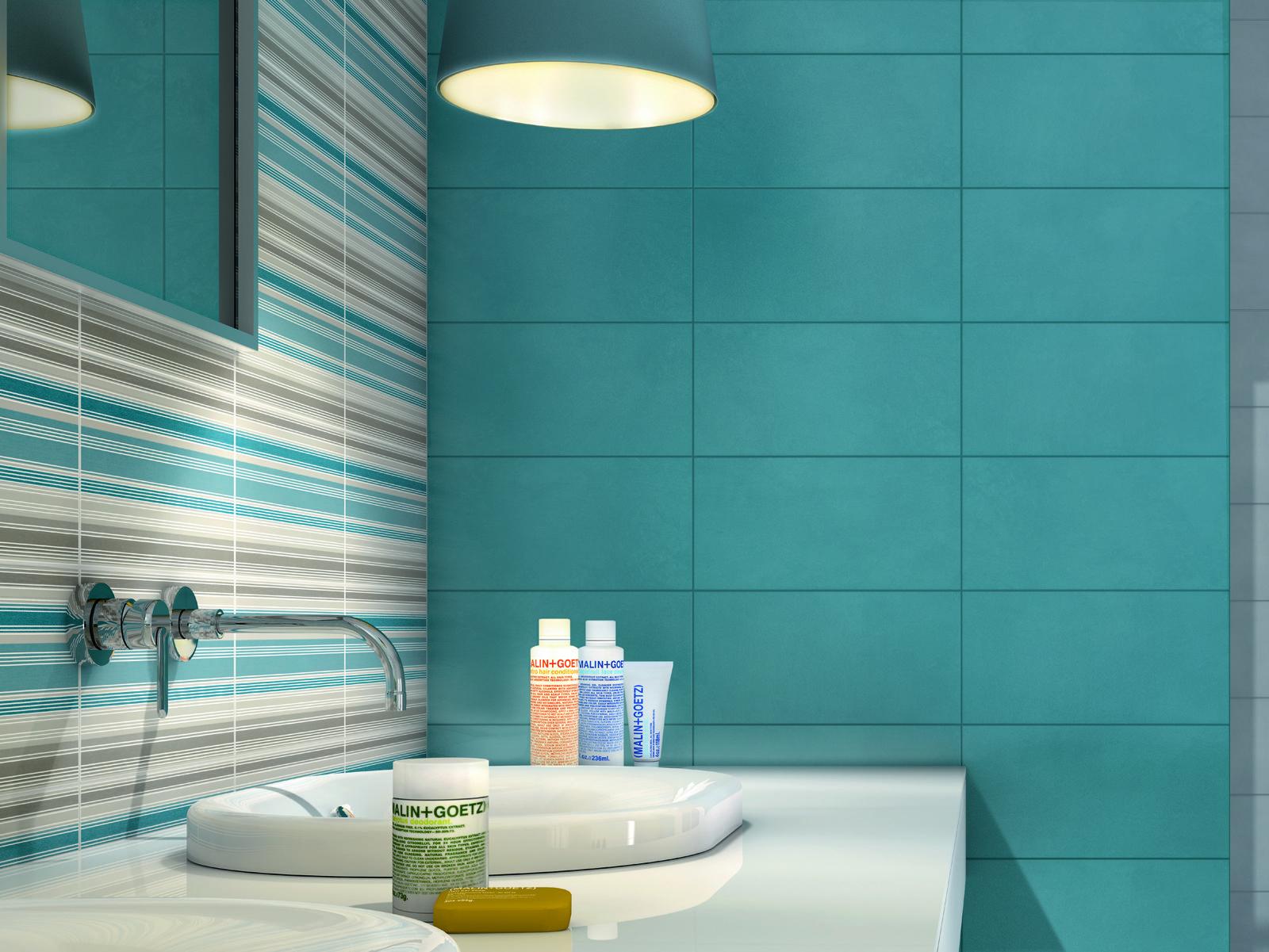 Risultati immagini per piastrelle bagno azzurre e bianche | Bathroom ...
