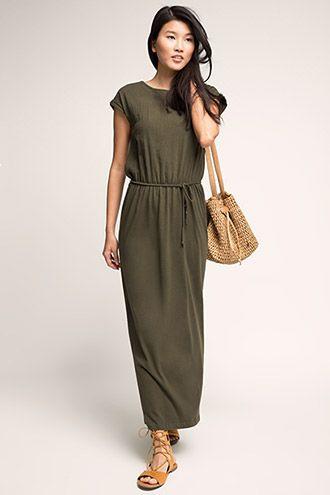 138ba0e23e76f Esprit   Robe longue 100 % coton à acheter sur la Boutique en ligne ...