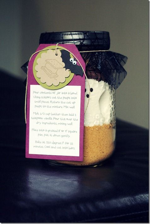 Halloween Gifts For S | Halloween Gift S Mores In A Jar Holiday Ideas Pinterest Jar