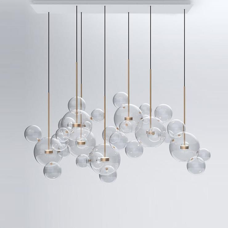 Glass Ball Bubble Sphere Chandelier | Glass ball pendant
