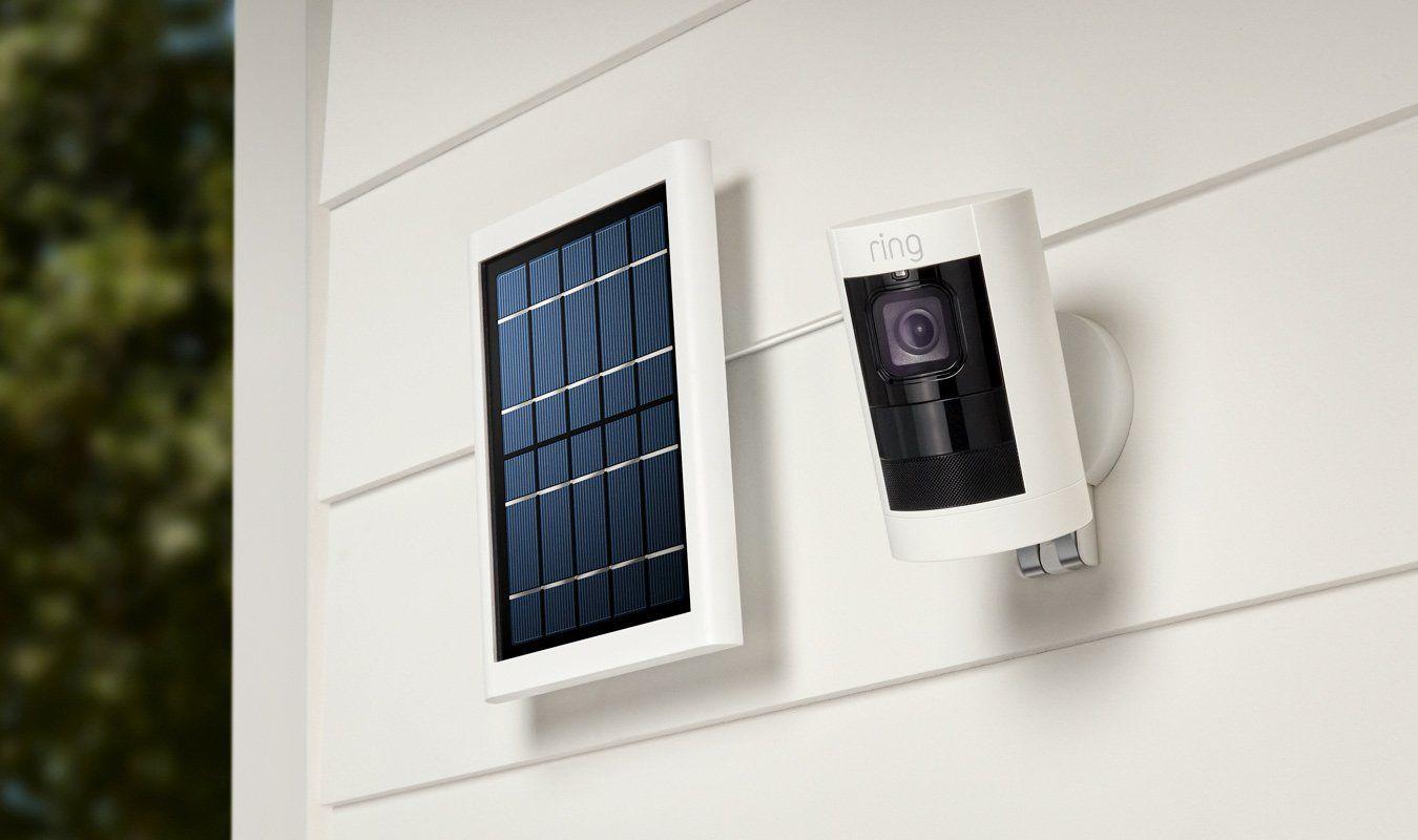 Solarpowered indoor/outdoor HD camera with twoway talk