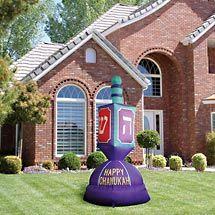 Colorful Inflatable Chanukah Dreidel I M So Getting This If