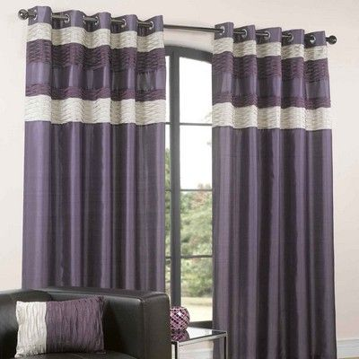 Eddy Lined Eyelet Curtains Plum With Matching Accessories