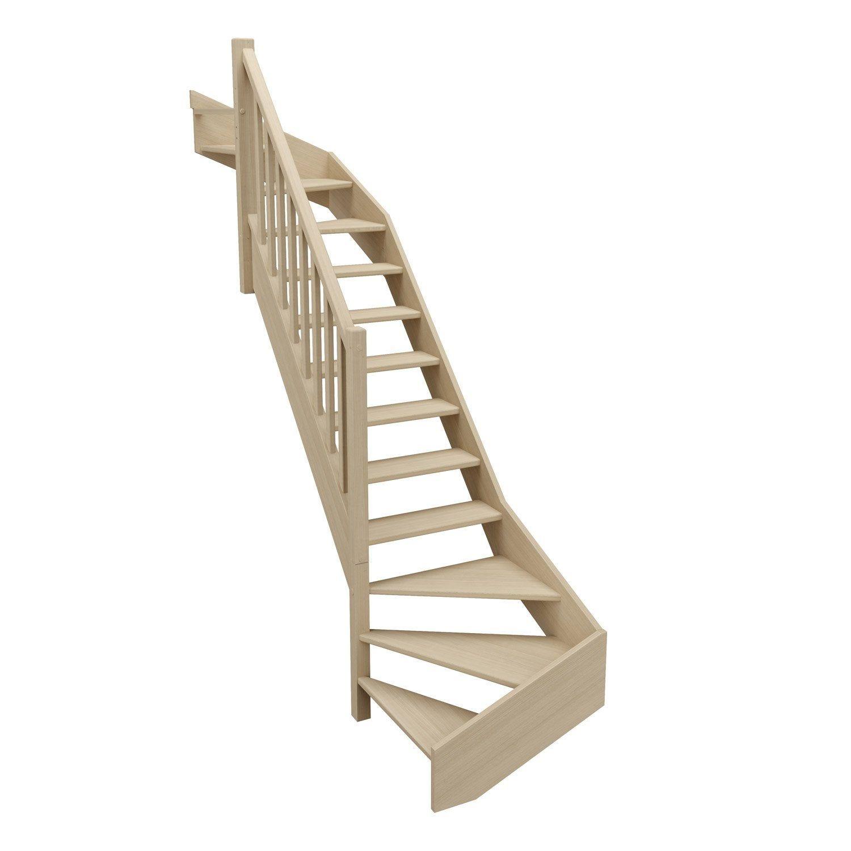 Escalier 1 4 T Bas Et Haut Gauche Bois Hetre Soft Classic Scm 14