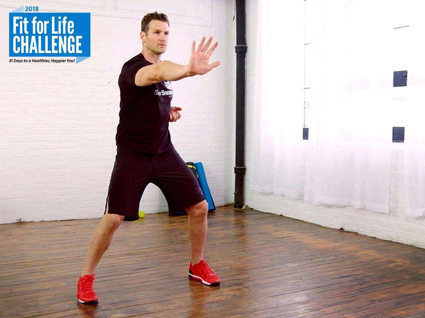 fitness expert David Jack shows