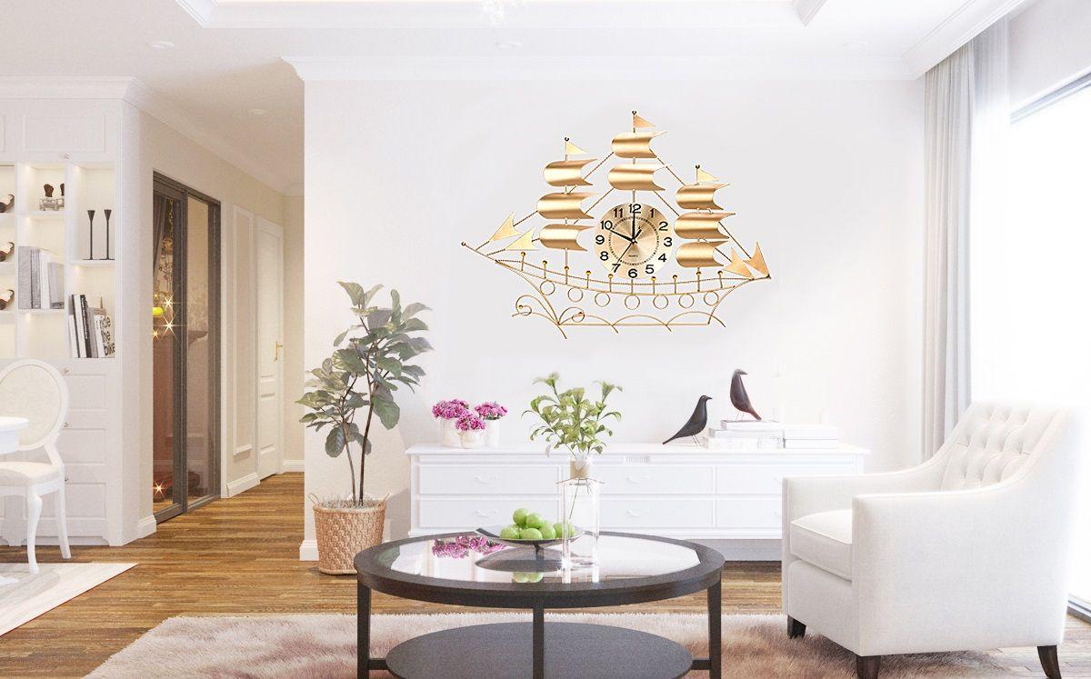 đồng hồ treo tường đẹp trong phòng khách
