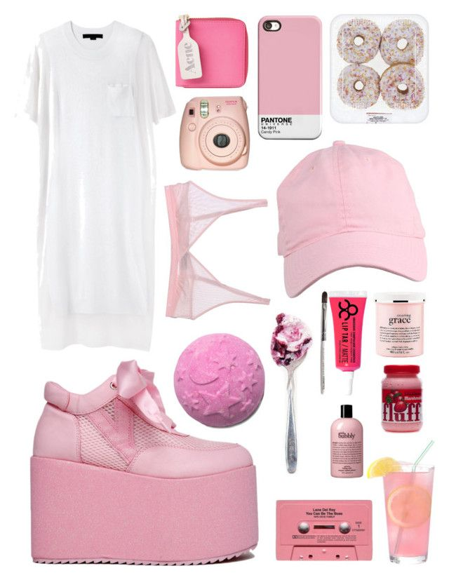 """""""Untitled #99"""" by elliegeen on Polyvore featuring Alexander Wang, Acne Studios, philosophy, Obsessive Compulsive Cosmetics, Cosabella and CASSETTE"""