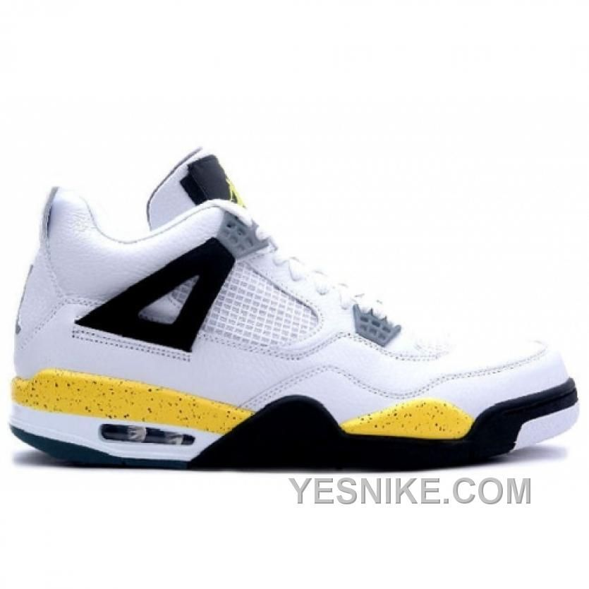 Big Discount 66 OFF Air Jordan Retro 4 Tour Yellow White Dark Blue Grey Black 314257702