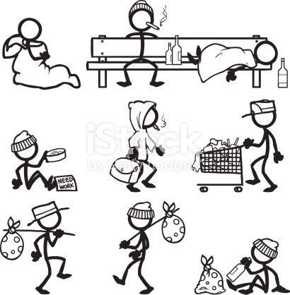 Stickfigure Hobos Dibujos Garabateados Dibujos Sencillos Notas De Dibujo