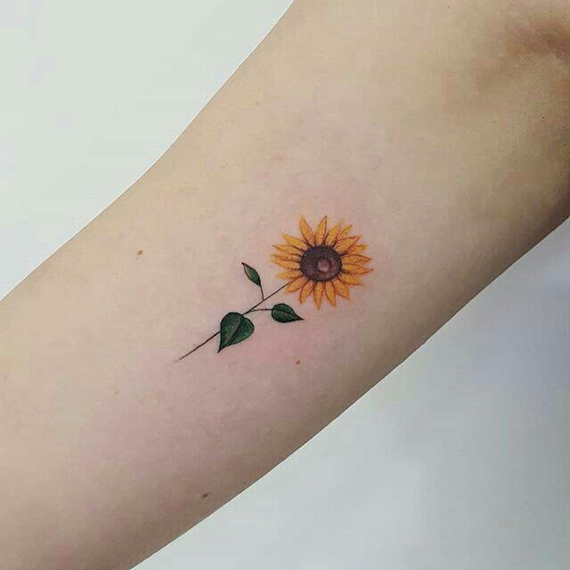 Girasole Tattoo Small Flower Tattoos Wrist Tattoos Sunflower