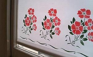 How to make a stencilled blind