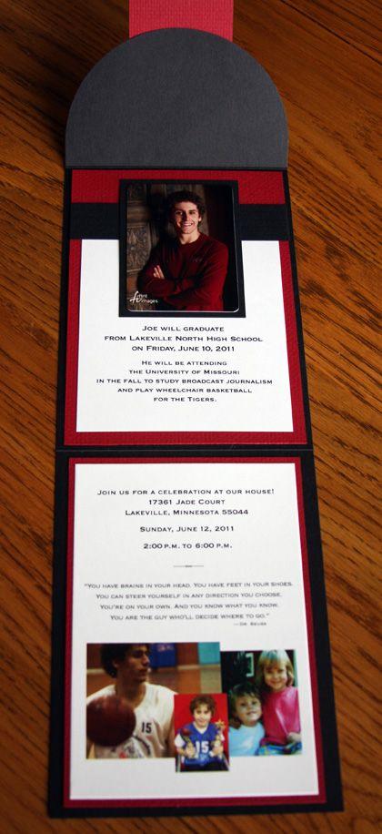 invitation fold graduation invitations pinterest graduation