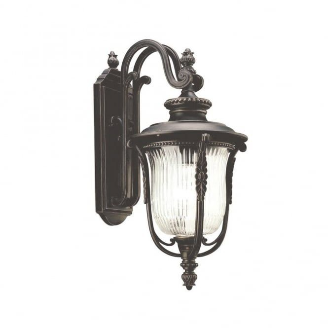Luverne Traditional Outdoor Wall Coach Lantern In Rubbed Bronze With Ribbed Glass Shade Wall Lantern Outdoor Wall Lantern Wall Lights