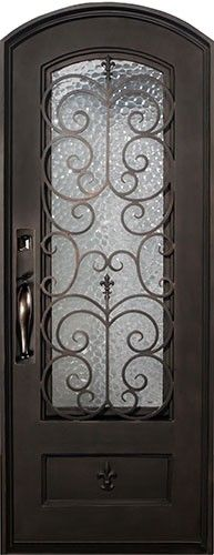 38x98 Fleur De Lis Iron Prehung Door