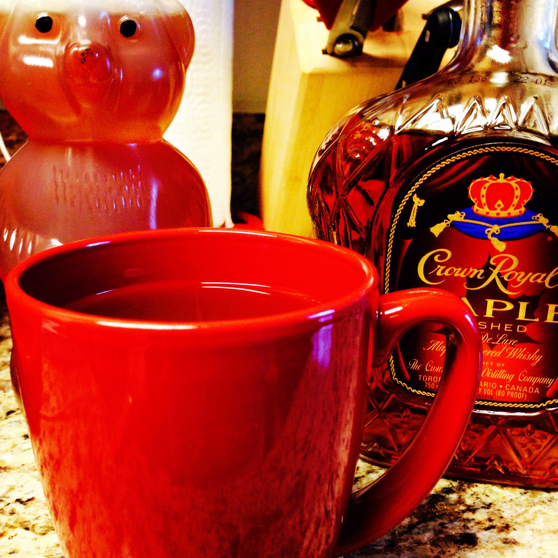 Crown Royal Maple Whiskey, Hot Tea, Add Honey (best rainy
