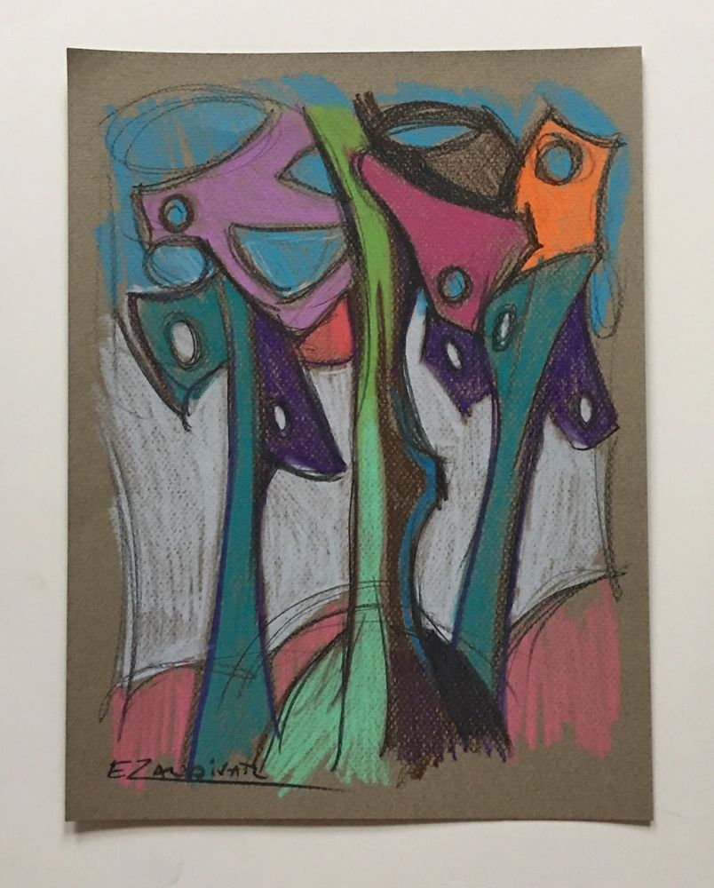 Cubist Colored Landscape Pencil Drawing Cuban Contemporary Art E Zaldivar Ebay Subasta De Arte Coleccionista De Arte Arte