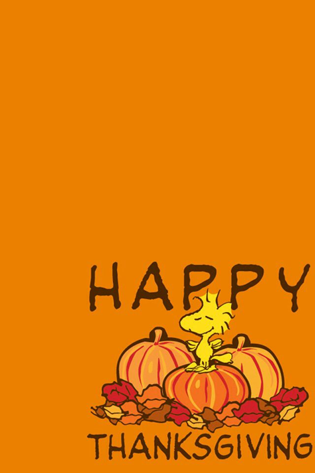 Happythanksgiving Woodstock Peanuts Pretty Iphone Wallpapers Cell Phone Backgrounds