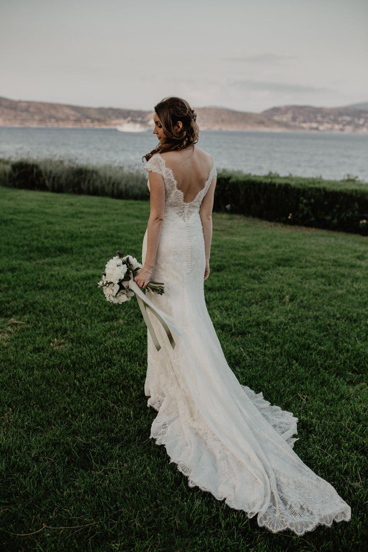 Magical fairy lit outdoor greece destination wedding wedding