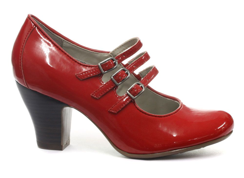 66fae9f06abf Red Mary Jane Hush Puppies - Perfect for smart office wear and to dress up  a casual outfit for a more demure look.